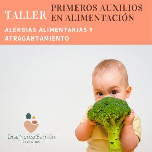 "Taller ""Primeros auxilios en alimentación"""